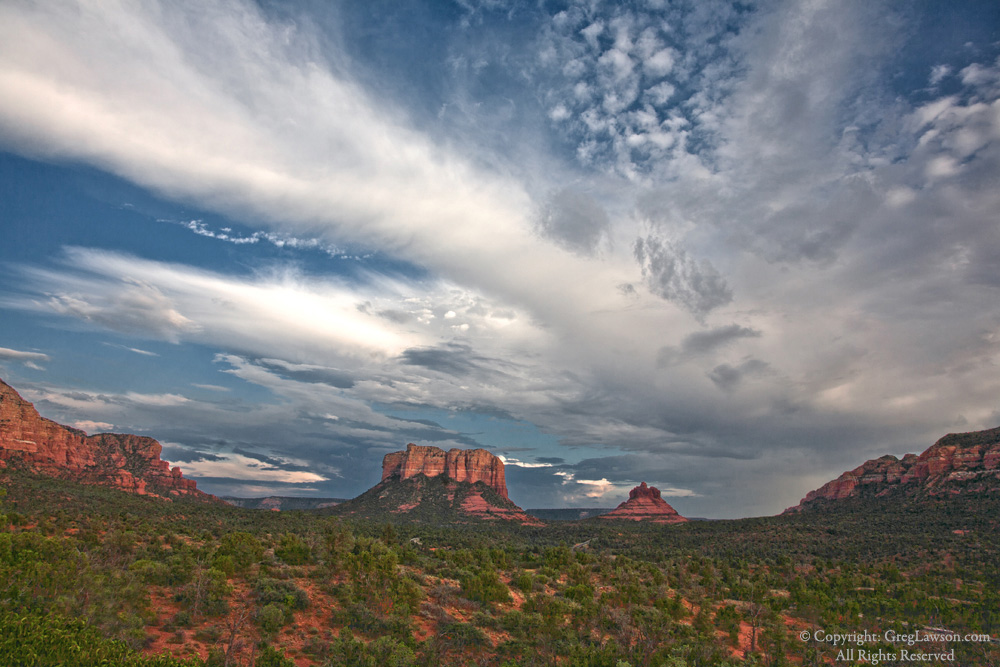 Two of Sedona's southside anchors, Courthouse Butte and Bell Rock, Greg Lawson Photography Art Gallery
