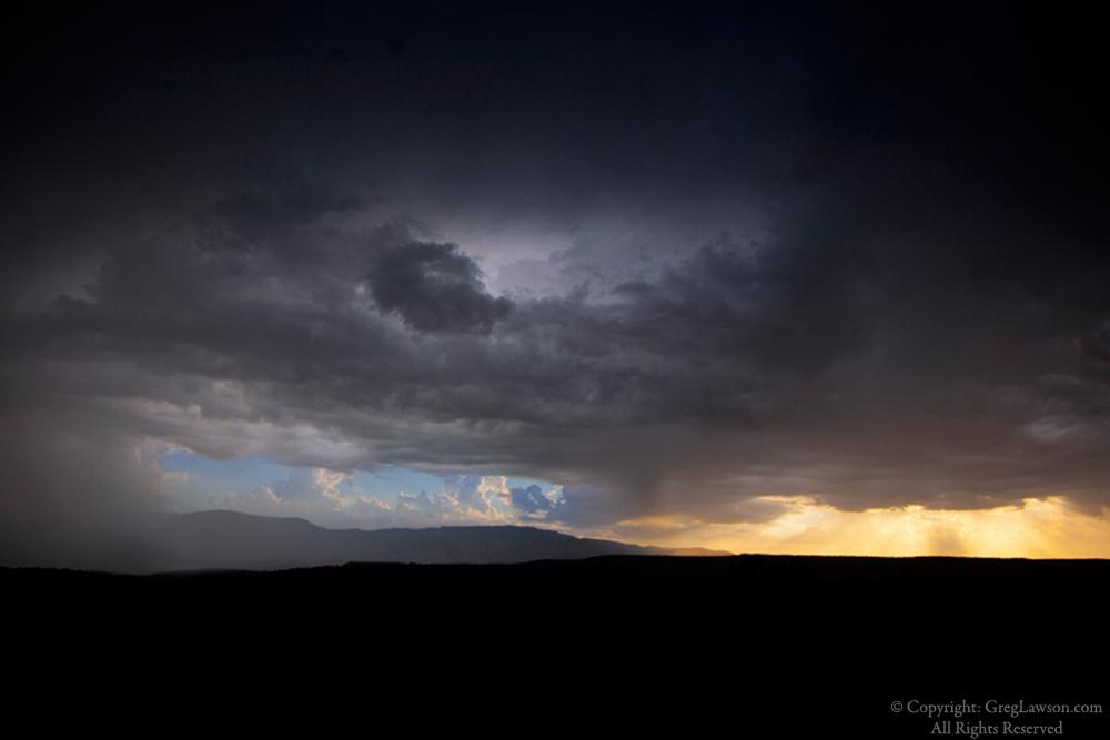Storm cloud apertures with distinctive nuances, Black Hills, Arizona, Greg Lawson Photography Art Gallery Sedona