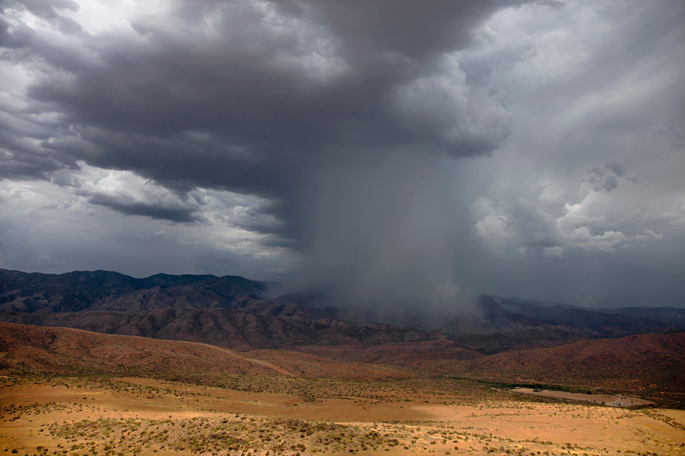 Arizona thunderstorm, A powerful squall in the Bradshaw Mountains, Arizona, Greg Lawson's Sedona Gallery of Photography