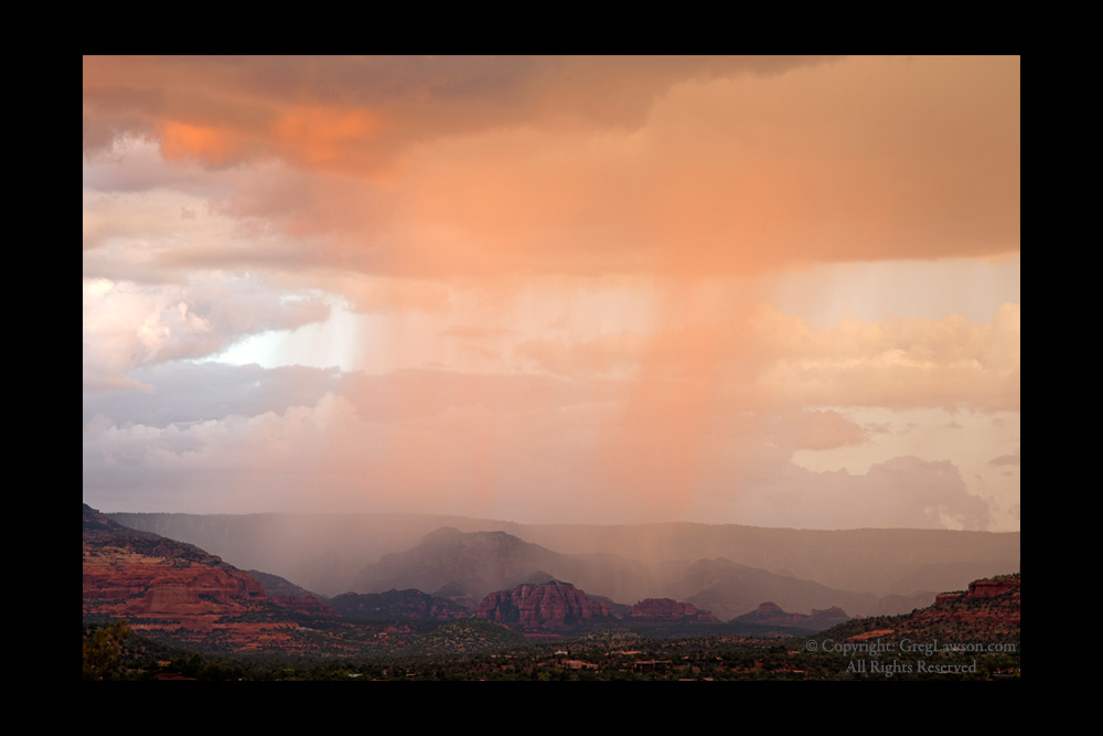Sedona Arizona Pink Champagne Copyright Greg Lawson - Greg Lawson Art Galleries Sedona