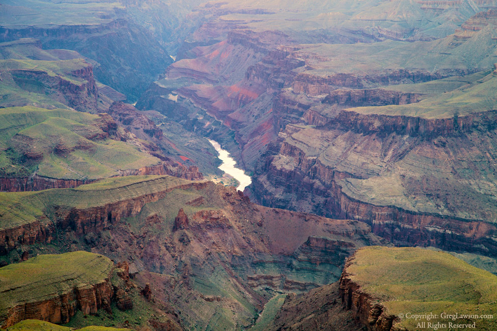 Spring's verdancy surrounds the Grand Canyon of the Colorado River, Greg Lawson Galleries