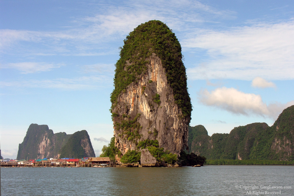 Copyright Greg Lawson Photo Galleries, Skyscraper of Phang Nga Bay, Thailand