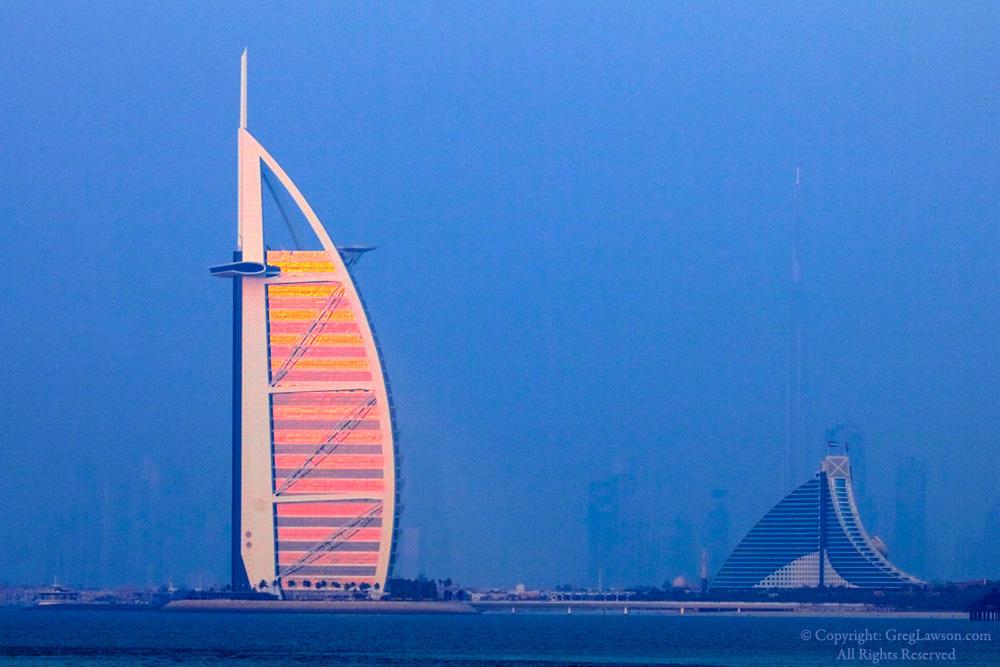 Greg LAwson Photography Art Gallery Sedona, Burj Al Arab, Dubai, UAE