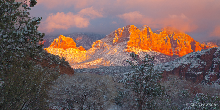 Winter in Sedona, Arizona. Image Copyright Greg Lawson.