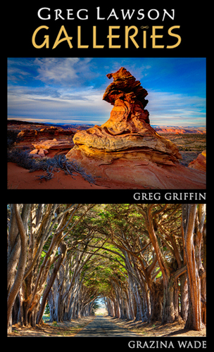 Photographers Greg Griffin and Grazina Wade are among the artists featured in Greg Lawson Galleries' World Tour Event 2016 in Sedona, Arizona