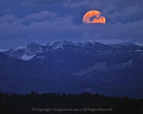Moonrise Over Tetons, Greg Lawson Galleries