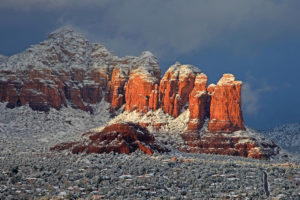 """Coffee Pot Rock in Winter by Greg Lawson, """"Iced Cappuccino"""""""