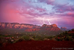 Lightning Strike at Twin Buttes